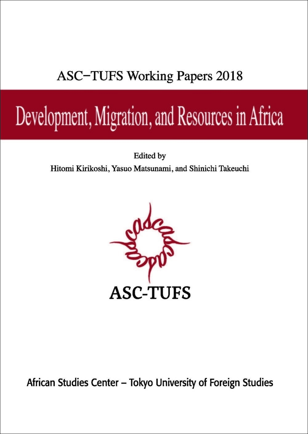 『ASC-TUFS Working Papers 2018